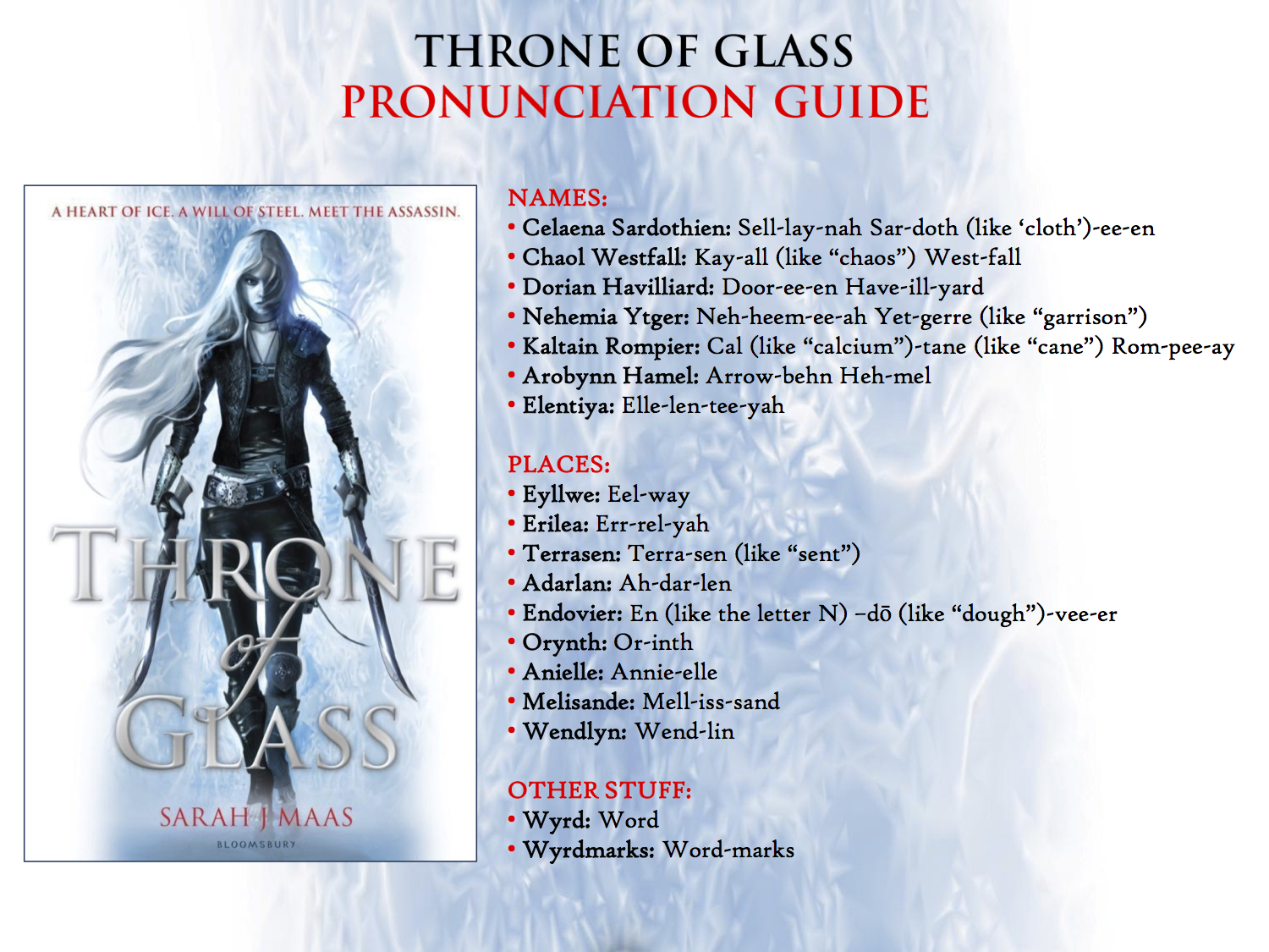 http://sarahjmaas.com/wp-content/uploads/2012/05/Throne-of-Glass-Pronunciation-Guide.jpg