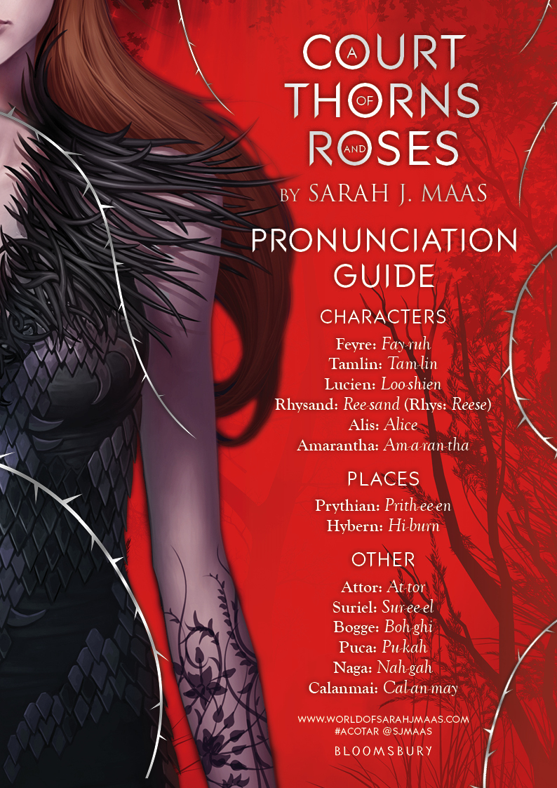 Throne of Glass Pronunciation Guide | Sarah J  Maas